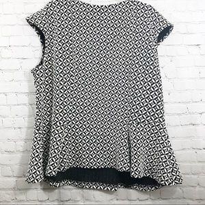 Worthington Tops - Women's Worthington black and white blouse sz 3X